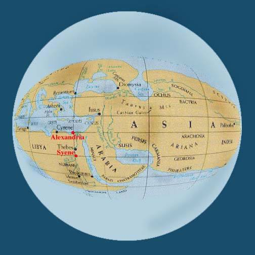 Eratosthenes world map